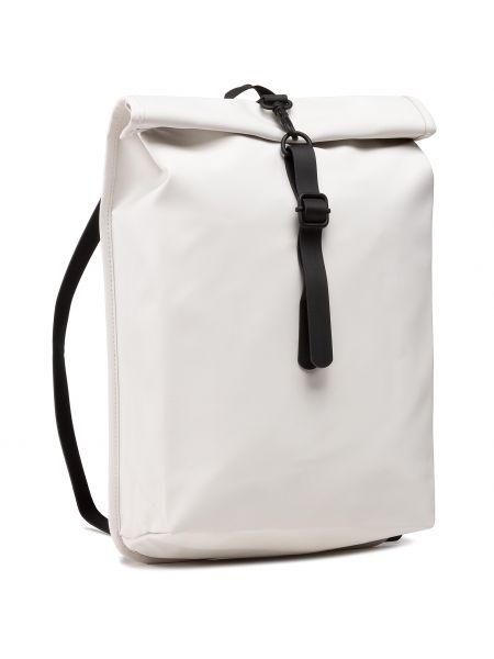 Biały plecak Rains