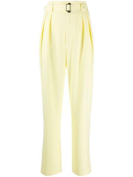 Желтые брюки со складками с воротником с высокой посадкой Simon Miller