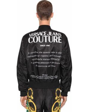 Kurtka z guzikami z nadrukiem Versace Jeans Couture