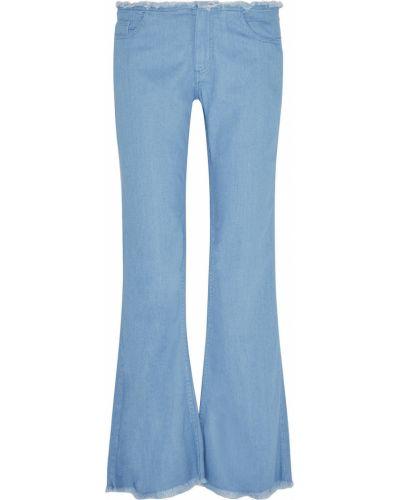 Niebieskie jeansy bootcut bawełniane Marques Almeida