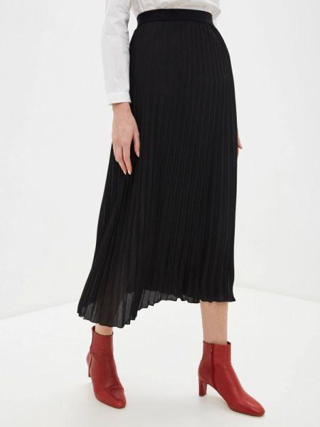 Плиссированная юбка черная весенняя United Colors Of Benetton