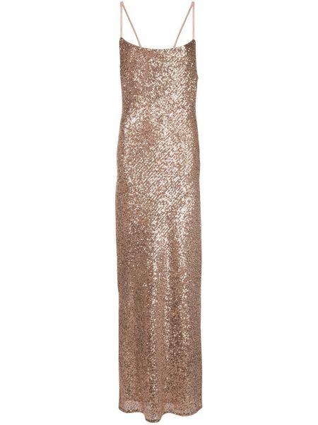 Тонкое розовое платье макси на бретелях на молнии Shona Joy