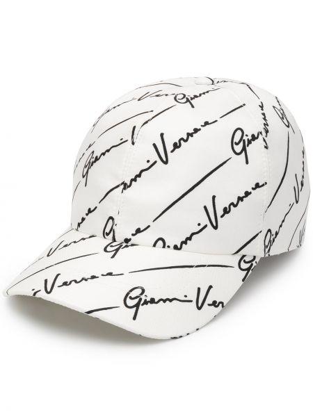 Czapka z logo biały Versace