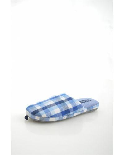 Хлопковые синие домашние тапочки De Fonseca
