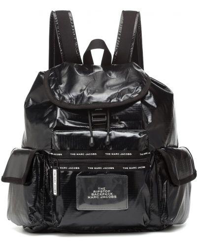 Światło włókienniczy czarny plecak z gniazdem Marc Jacobs