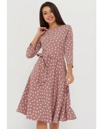 Повседневное бежевое платье A.karina
