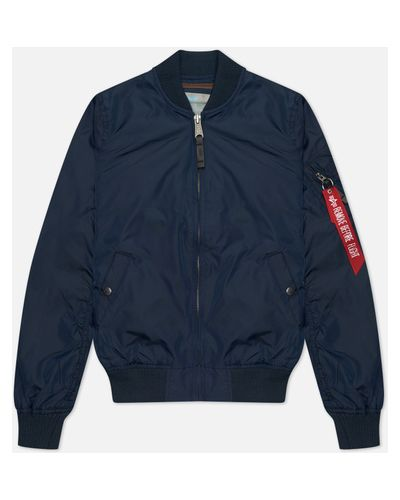 Синяя куртка MA-1 с подкладкой с воротником Alpha Industries