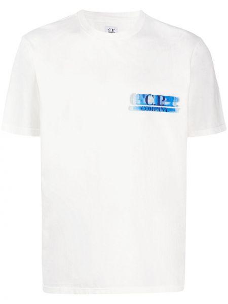 Рубашка с короткими рукавами с принтом леопардовая Cp Company Kids