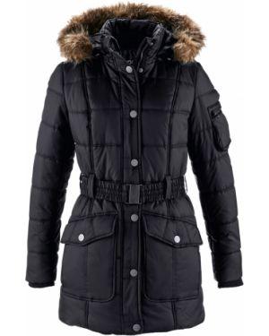 Пальто с капюшоном на кнопках с накладными карманами Bonprix