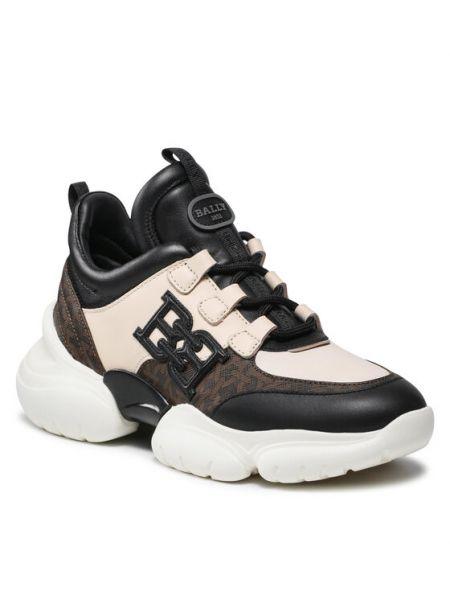 Czarne sneakersy Bally
