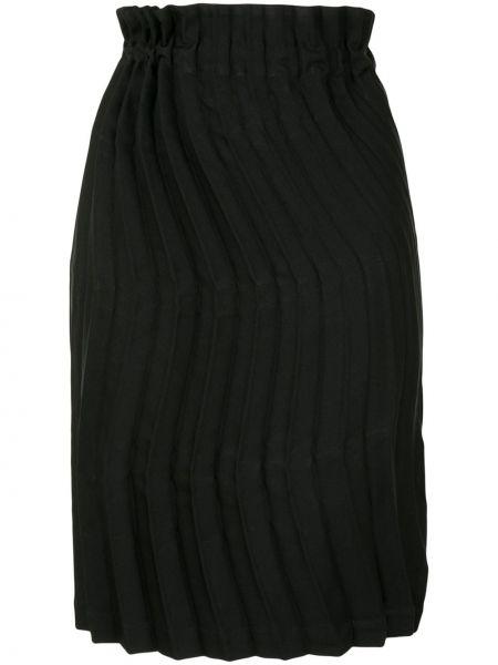 Черная прямая с завышенной талией юбка мини Issey Miyake Cauliflower