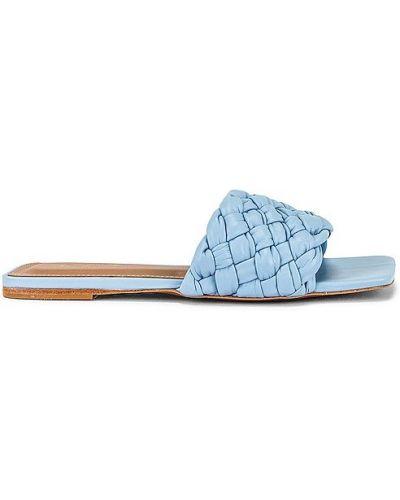 Niebieskie sandały na obcasie skorzane Raye