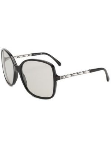 Белые комбинированные муслиновые солнцезащитные очки узкого кроя Chanel