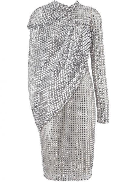Серое платье с драпировкой Burberry