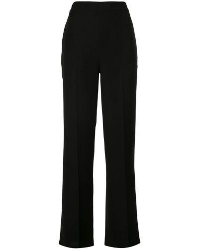 Свободные брюки черные из крепа Yigal Azrouel