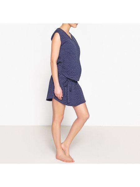 Рубашка с коротким рукавом для беременных с поясом La Redoute Collections