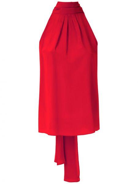 Шелковая блузка - красная Eva