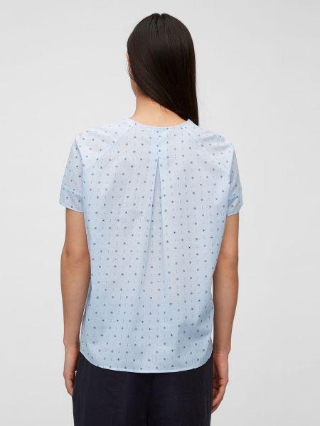 Хлопковая блузка с короткими рукавами с V-образным вырезом Marc O'polo