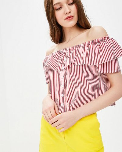 Блузка с открытыми плечами весенний красная Fornarina