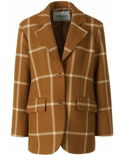 Brązowy płaszcz Rodebjer