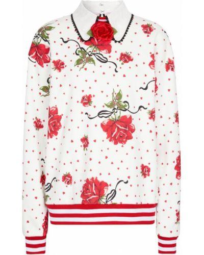 Biała bluza dresowa bawełniana Rodarte