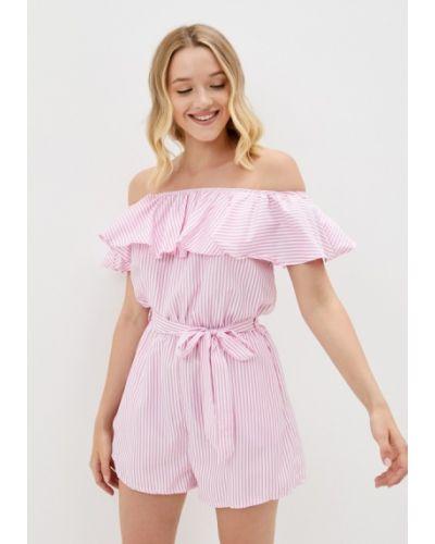 Розовый комбинезон с шортами Fadjo