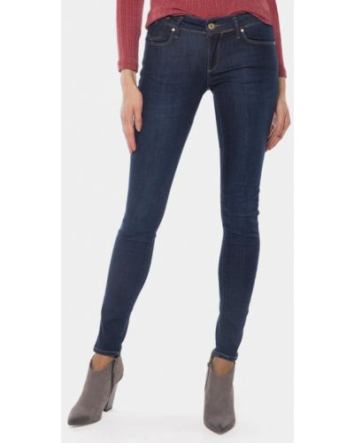 Синие джинсы-скинни Mr520