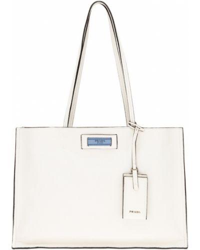 Кожаный сумка большая мягкая Prada