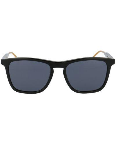 Czarne okulary skorzane Gucci