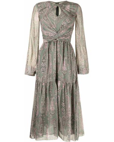 Платье макси с длинными рукавами - зеленое Giambattista Valli