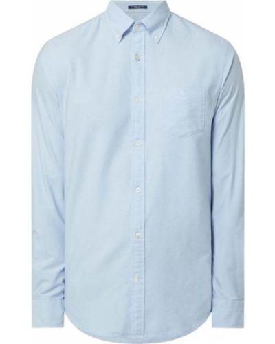 Niebieska koszula oxford bawełniana z długimi rękawami Gant