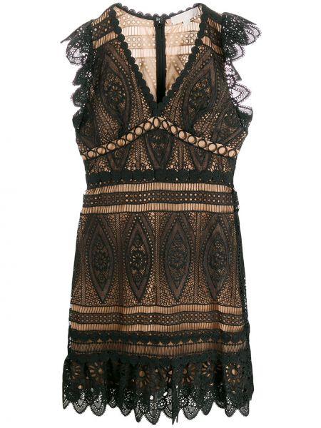 Платье миди черное приталенное Michael Michael Kors
