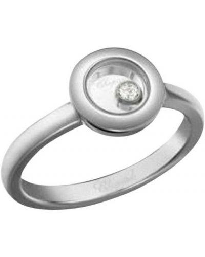 Szary pierścionek z diamentem Chopard