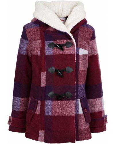 Куртка с капюшоном в клетку на пуговицах Bonprix