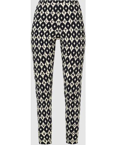 Черные брюки с принтом Valentino
