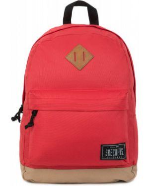 Красный рюкзак для ноутбука на бретелях с карманами Skechers