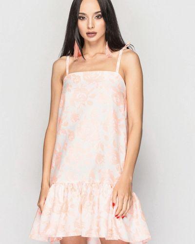 Платье мини весеннее розовое 0101 Brand
