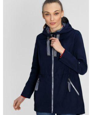 Синяя куртка с капюшоном на резинке на молнии с манжетами Ostin