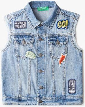 Жилетка джинсовая синий United Colors Of Benetton