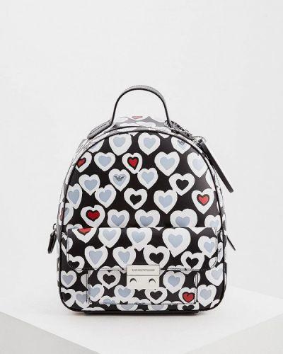 Рюкзак черный из искусственной кожи Emporio Armani