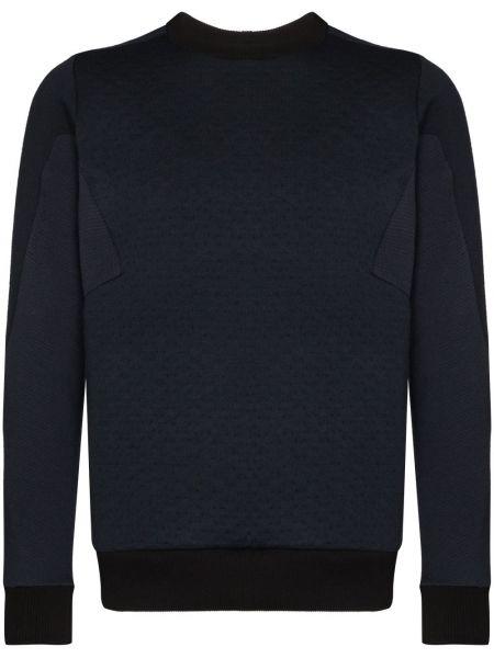 Niebieska bluza z długimi rękawami wełniana Byborre