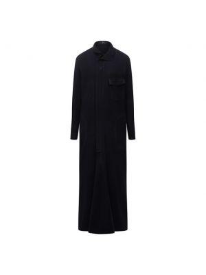 Шерстяное платье - синее Y`s