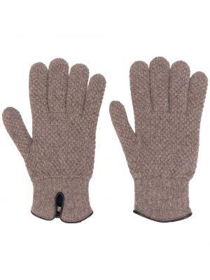 Brązowe rękawiczki skorzane Lady Anne