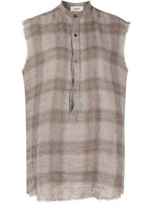Льняная коричневая рубашка с воротником Barena