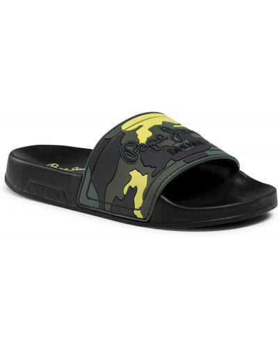 Zielone klapki Pepe Jeans