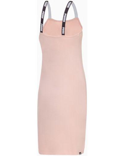 Облегающее розовое платье закрытое Puma