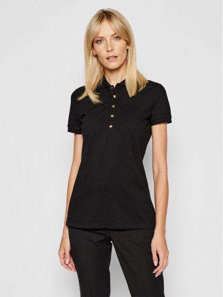 Czarna koszulka Lauren Ralph Lauren
