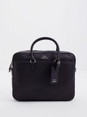 Черная кожаная сумка Polo Ralph Lauren