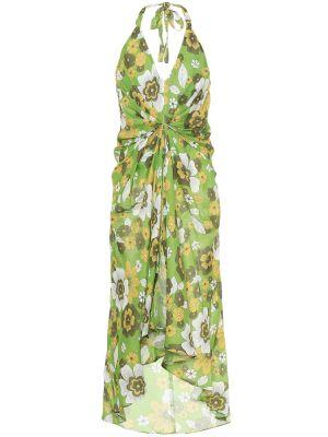 Теплое платье с цветочным принтом из штапеля Dodo Bar Or