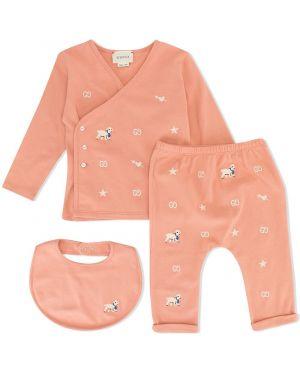 Piżama z długimi rękawami - różowa Gucci Kids